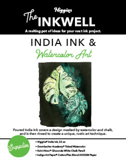 India Ink and Watercolor Art