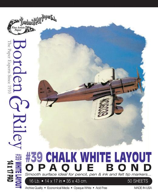 14x17 #39 Chalk White Bond Pad