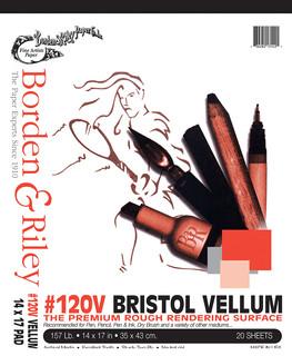 14x17 #120V Bristol Vellum Pads