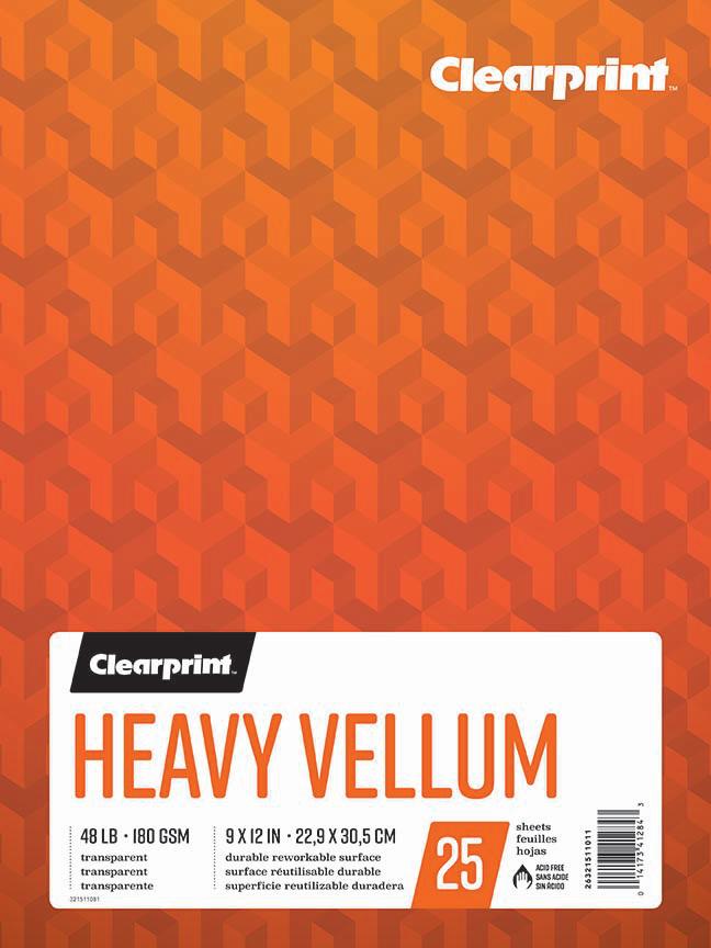 "Heavy Vellum 9""x12"""