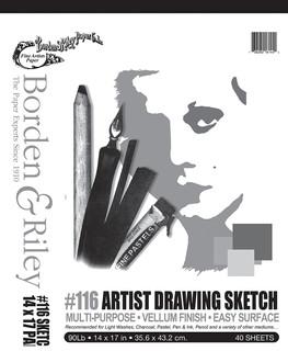 14x17 #116 Artist Drawing Sketch Vellum