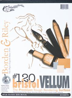9x12 #120V Bristol Vellum Pads