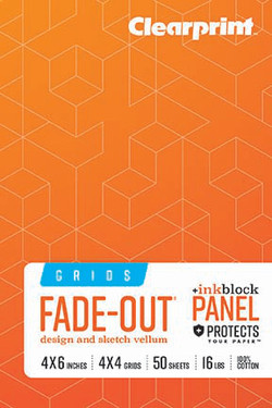 """Fade-Out Grid Field Book 4""""x6"""""""