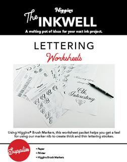 Hand Lettering Worksheets