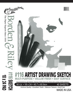 18x24 #116 Artist Drawing Sketch Vellum