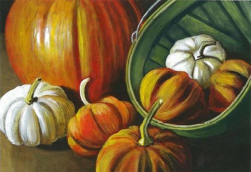 Fall Pumpkins Acrylic Painting