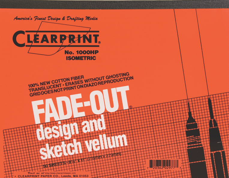 "Clearprint Fade-Out 11""x8.5"""