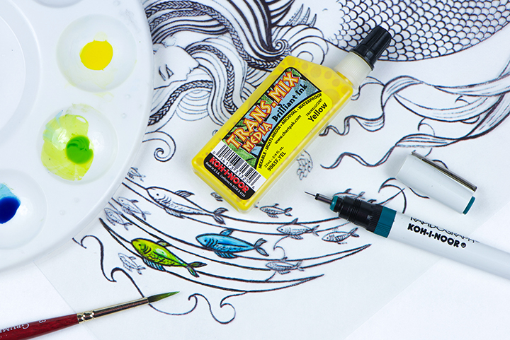 Trans-mix Media™ and Drawing Inks