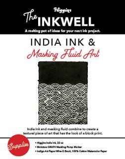 India Ink & Masking Fluid Art
