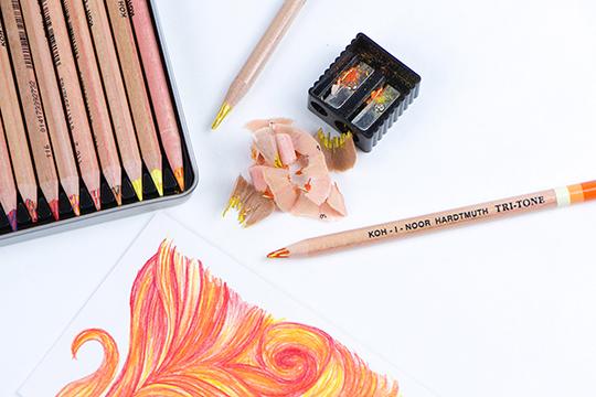Tri-tone Colored Pencils