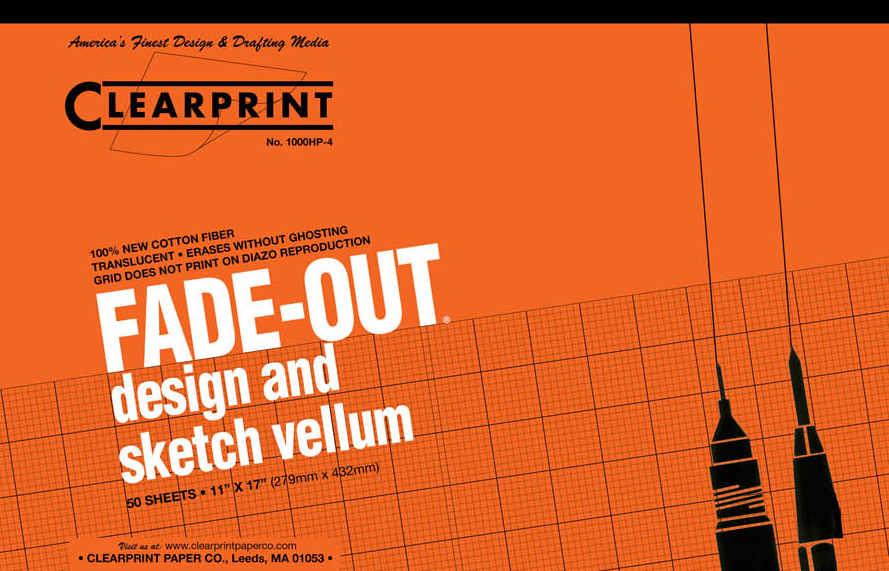 "Clearprint Fade-Out Pad 11""x17"""