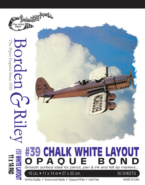 11x14 #39 Chalk White Bond Pad
