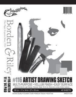 11x14 #116 Artist Drawing Sketch Vellum