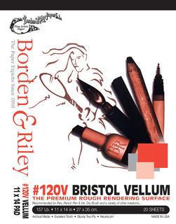 11x14 #120V Bristol Vellum Pads