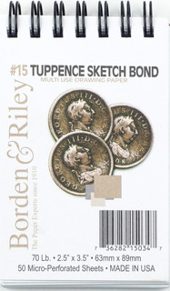 #15 Tuppence Sketch Spiral Pad