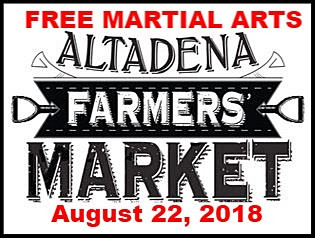 Join us as we share Martial Arts with our Neighbors at the Farmers Market on August 22, 2018