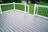 Residential Backyard Gray Composite Deck