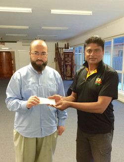 Donation for Cleeland St  Mosque 2014