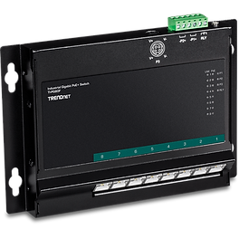 8-Port Industrial Gigabit PoE+ Wall-Moun