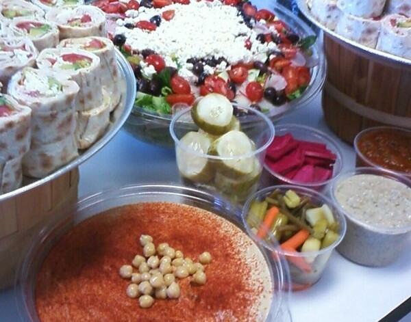 catering2 Combo of Greek Salad, Humous B