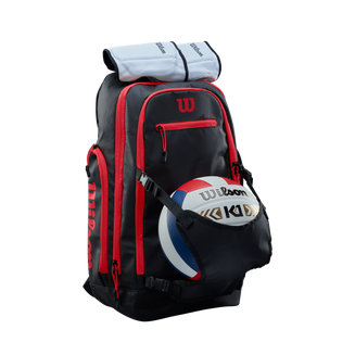WTH132190_Wilson_Volleyball_Backpack_BL_RD_Knee_Pads.png