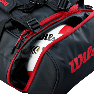 WTH122190_Wilson_Volleyball_Duffle_BL_RD_Ball_Pocket.png