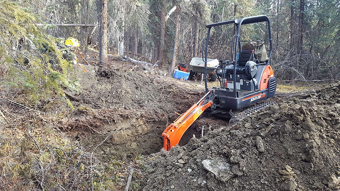 Land Based and Fixed Wing Portable Excavator