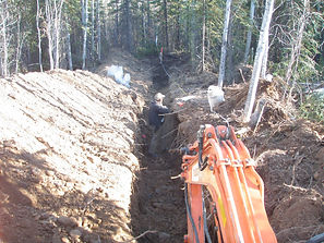 yukon excavator trenching
