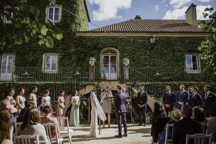 Outdoor symbolic wedding ceremony