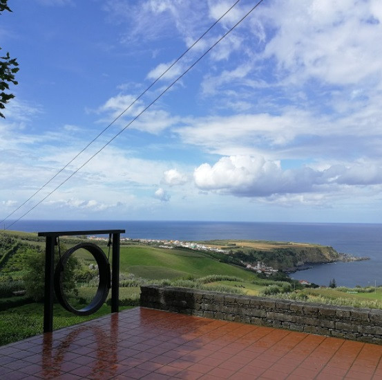 ceremony area in the Azores with ocean view