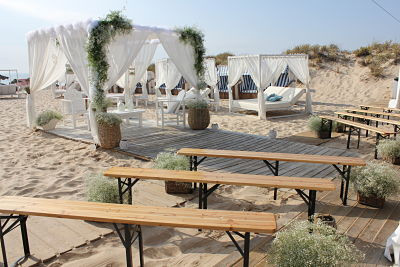 Beach ceremony setting in Portugal