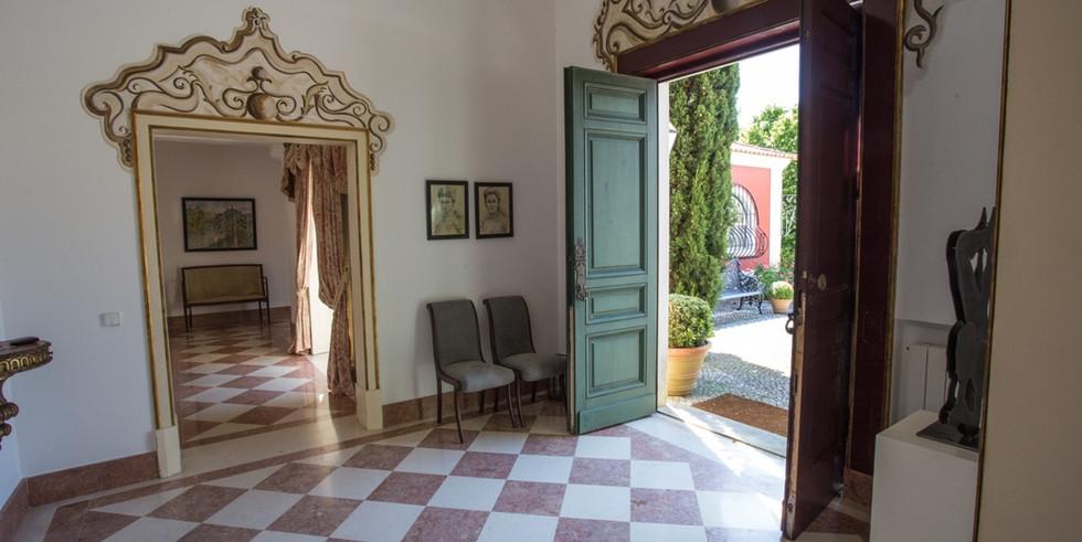 Hall with mirror in private villa venue in Portugal