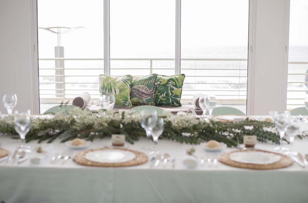 Table decoration at Casa de Praia in the Azores, Portugal
