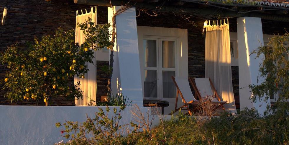 Balcony of guestroom in the Alentejo, Portugal