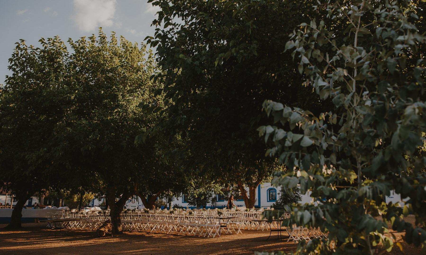 Symbolic ceremony setting outdoor