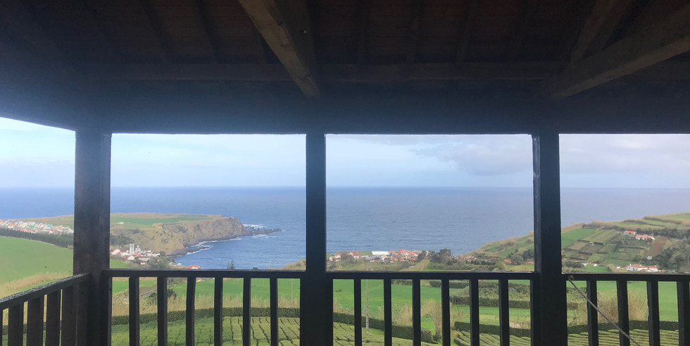 Ocean view from the terras of The Tea Factory wedding venue
