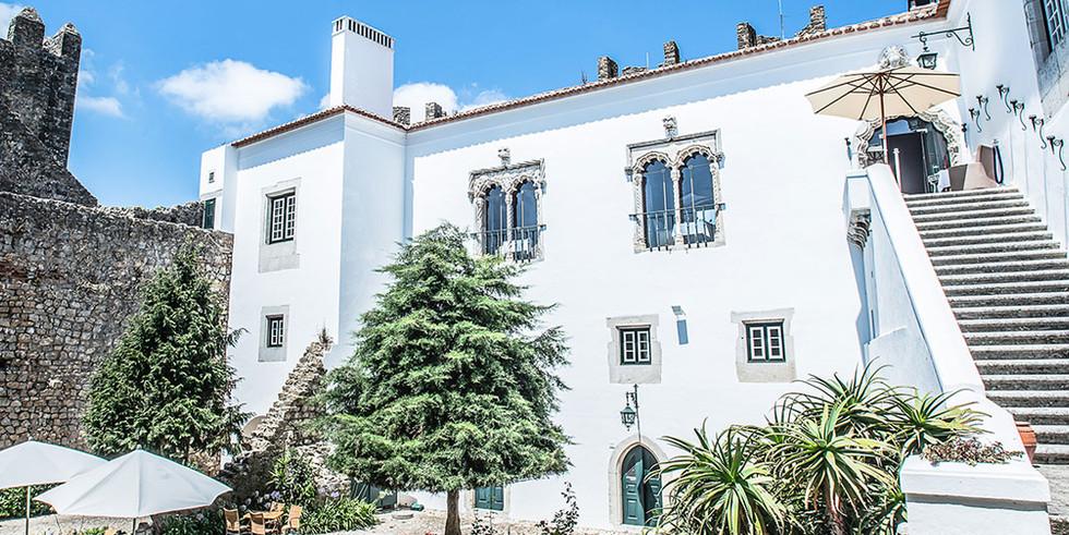 Patio of historical venue in Portugal