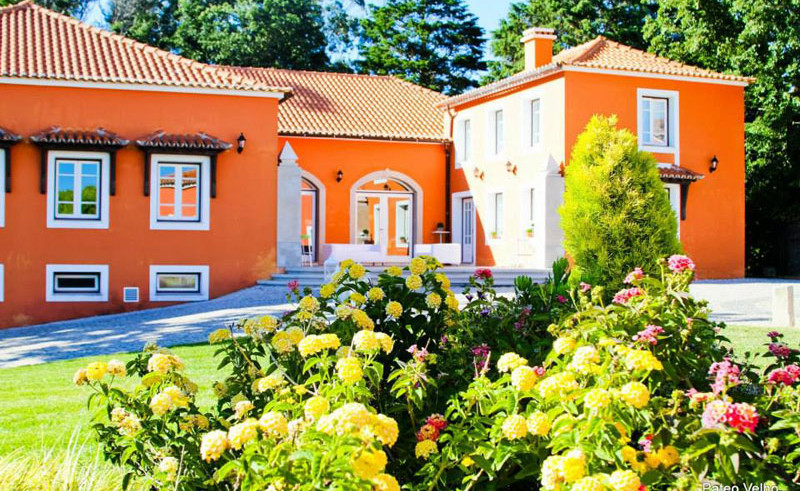 Garden of vineyard venue in central Portugal