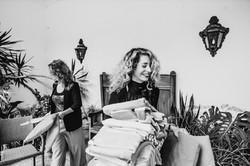 Wedding planner in Portugal preparing the wedding day
