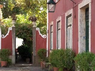 Entrance to garden of wedding venue