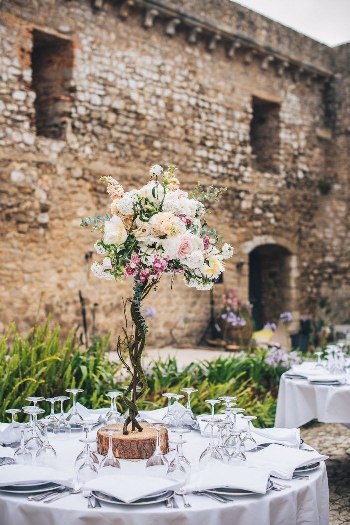 Outdoor dinner at historical venue in Portugal