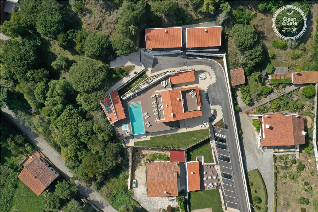 Drone image from seaview wedding venue