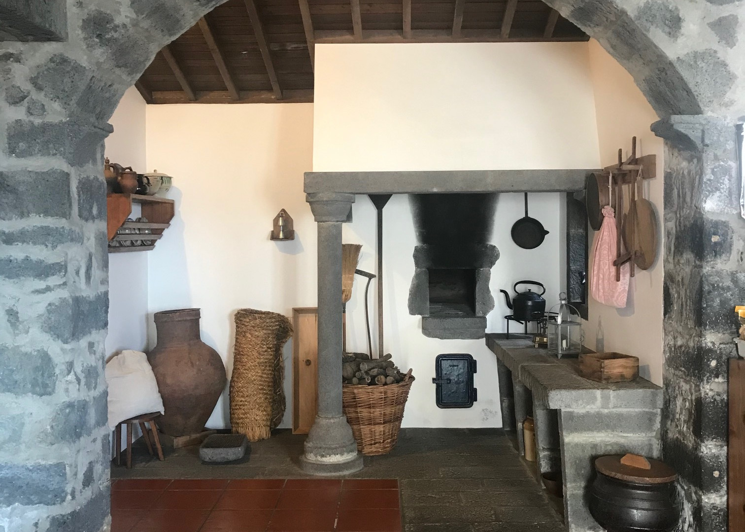 Authentic kitchen in The Tea Factory in São Miguel