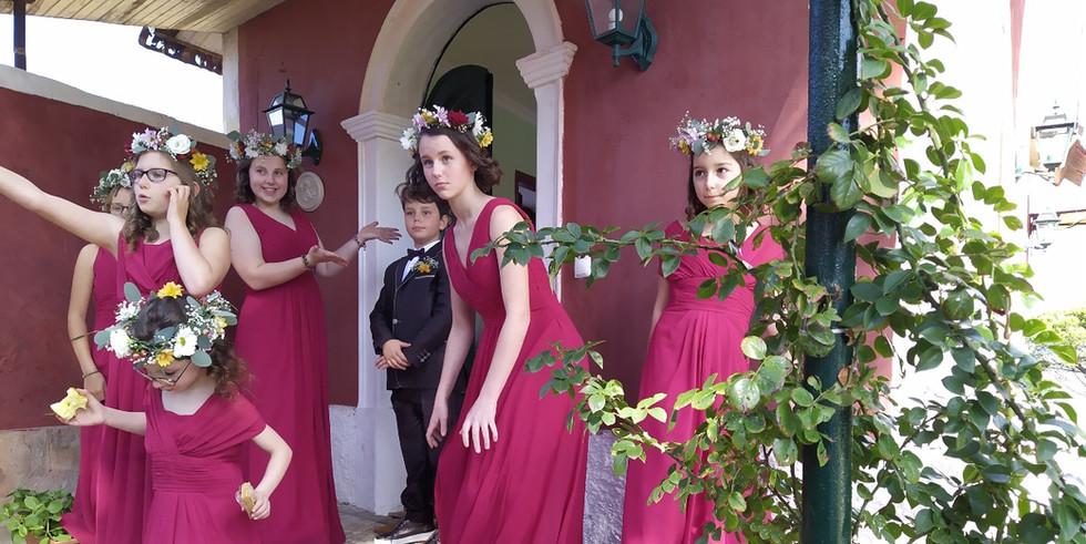 Bridesmaids awaiting for bride