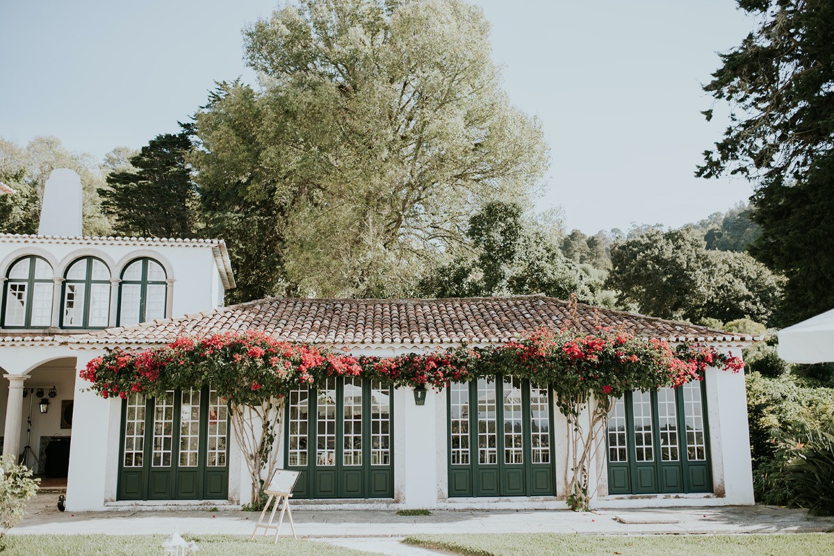 Gardenroom for wedding dinners in Portugal
