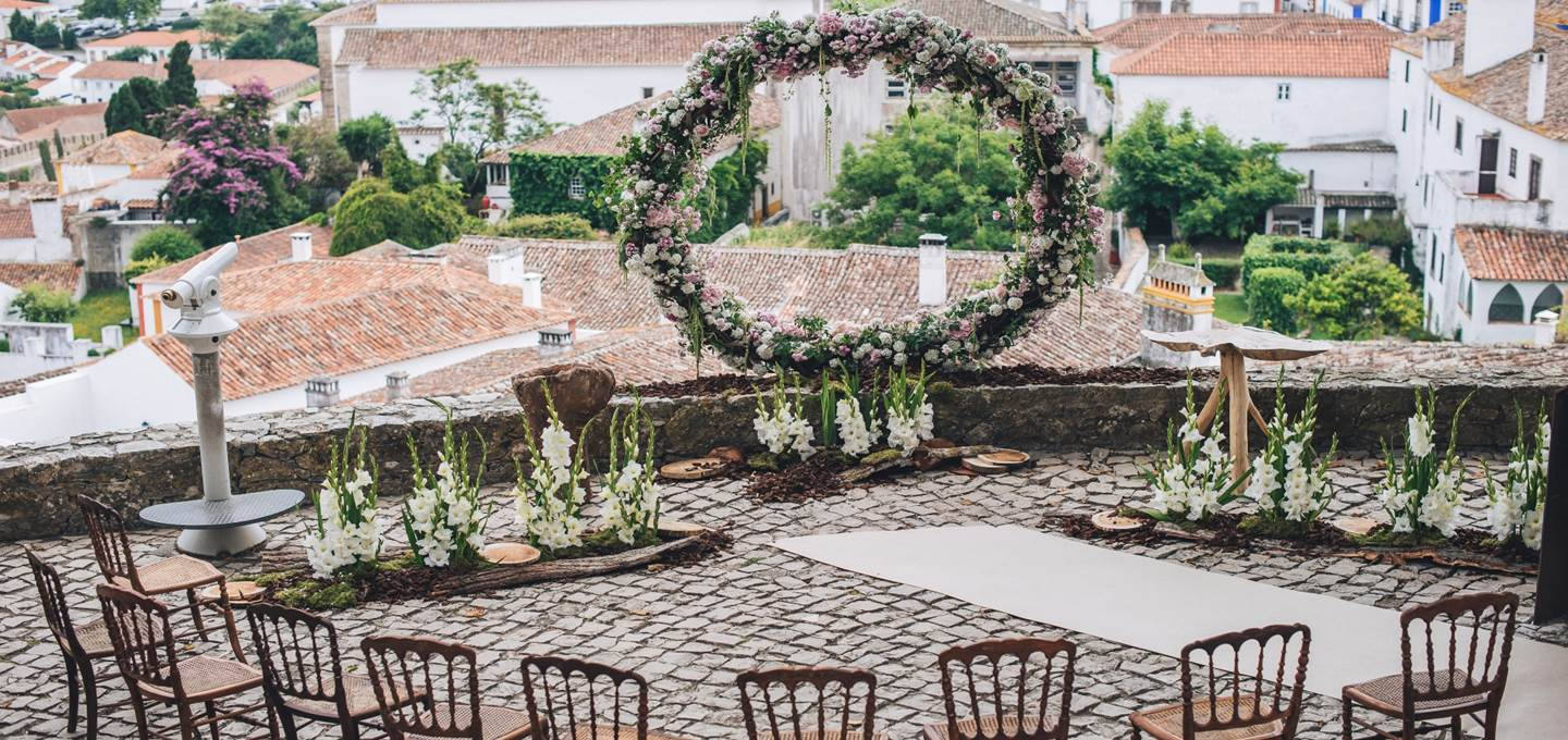 Ceremony in a castle