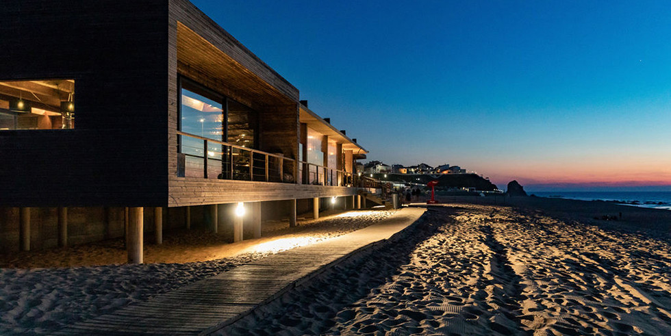 Beach venue by night