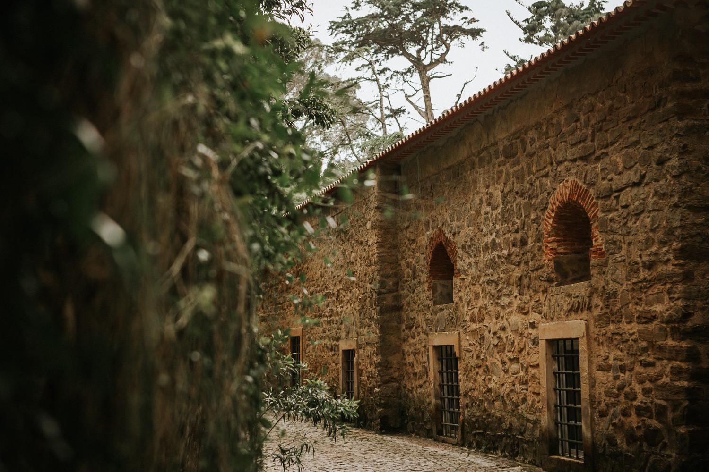 Historic walls of chapel