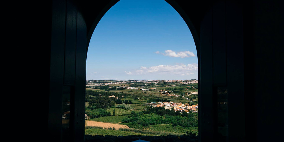 View from a window of the castle