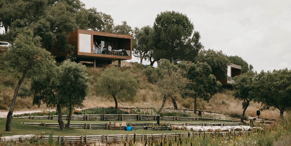 Contemporary houses at luxury wedding venue in Portugal